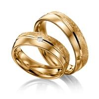 Aliança de Ouro - Casamento e Noivado com Diamantes