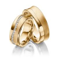 Aliança Côncava 44 Diamantes