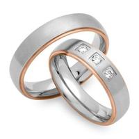 Aliança de Casamento em Ouro Branco