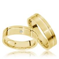 Alianças Casamento e Noivado - em Ouro 18k