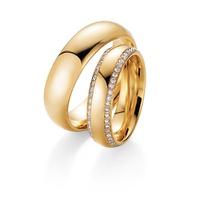 Aliança de Casamento com 6 mm Cravejada com Diamantes