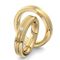 Aliança de Ouro 18k Para Casamento