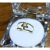 Anel em Ouro 18k Duplo de Estrela