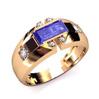 Anel de Formatura Direito - Ouro 18k - Rubi - Masculino e Feminino