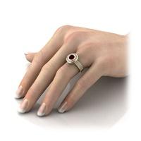 Anel de Formatura Cravejado com Diamantes