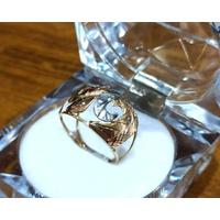 Anel em Ouro 18k Tricolor Diamantado