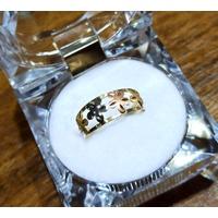 Anel em Ouro 18k Flores Diamantadas