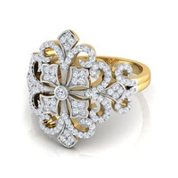 Anel Cravejado com Diamantes Paris