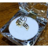Anel em Ouro 18k Menino Vazado Diamantado