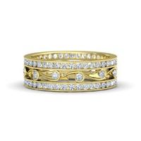 Anel Cravejado com Diamantes em Ouro 18k