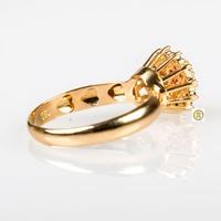 Anel em Ouro Amarelo 18k 750 com Safira, Rubi e Brilhantes