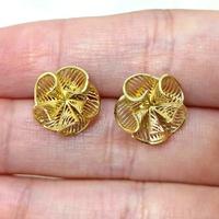 Brinco em Ouro Flor Telada em Cone
