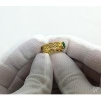 Anel de Formatura em Ouro 18k com Aro Trabalhado