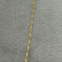 Corrente em Ouro 18k 50cm Singapura