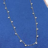 Gargantilha em Ouro 18k Veneziana com Pontos de Luz 45cm