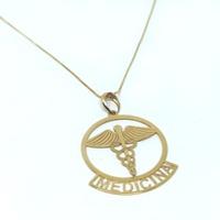 Pingente em Ouro 18k Medalha Medicina