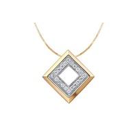 Pingente Quadrado Com Diamantes