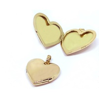 Relicário em Ouro 18k Coração Liso