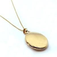Relicário em Ouro Oval Liso