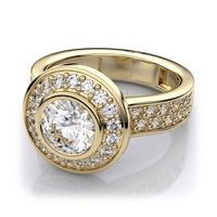 Solitário com Diamante - Ouro 18k