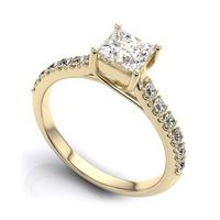 Solitário com Diamantes em Ouro 18k com Diamantes de 40 Pontos