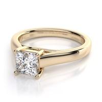 Solitário Diamantes Prince em Ouro Branco 18k