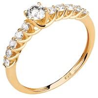 Solitário de Noivado com Diamantes em Ouro 18k