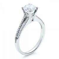 Solitário em Ouro Branco 18k com Diamante de 25 Pontos