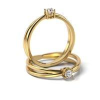 Solitário em Ouro 18k com Diamante