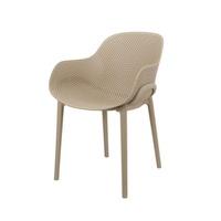 Cadeira Decorativa DKR Flow Nude - Incasa Móveis