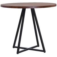 Mesa de cozinha redonda Daf Heloise castanho - Incasa Móveis