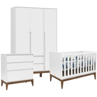 Quarto de bebê Matic Nature Clean Branco Ecowood - Incasa Móveis