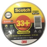 Fita Isolante 19mm x 20m Scotch 33+ 3M - Jabu Elétrica, Hidráulica e Iluminação