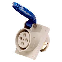 Tomada de Embutir 3P + T 32A Azul N4249 Steck - Jabu Elétrica, Hidráulica e Iluminação