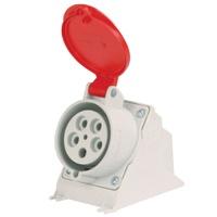 Tomada de Sobrepor 4P + T 32A Vermelha N5206 Stec - Jabu Elétrica, Hidráulica e Iluminação