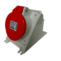 Tomada de Sobrepor 4P + T 16A Vermelha N5006 Stec - Jabu Elétrica, Hidráulica e Iluminação