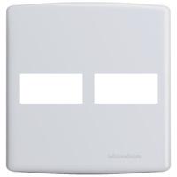 Placa 4x4 para 2 Módulos Separados 6411 Siena Alum... - Jabu Elétrica, Hidráulica e Iluminação