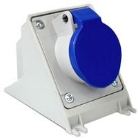 Tomada de Sobrepor 2P + T 16A Azul N3006 Steck - Jabu Elétrica, Hidráulica e Iluminação