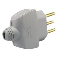 Plugue Residencial Monobloco com Saída Axial 2P+T ... - Jabu Elétrica, Hidráulica e Iluminação