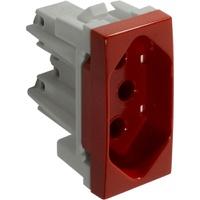 Tomada 2P + T 10A Vermelha 6080 Siena Alumbra - Jabu Elétrica, Hidráulica e Iluminação