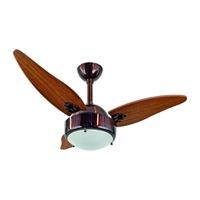 Ventilador de Teto 3 Pás de Madeira para 2 Lâmpada... - Jabu Elétrica, Hidráulica e Iluminação