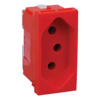 Tomada 2P+T 20A Vermelha 615079 PialPlus Pial - Jabu Elétrica, Hidráulica e Iluminação