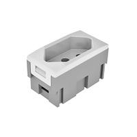 Módulo Tomada Tipo Bloco 2P+T 20A Branco Pezzi Dut... - Jabu Elétrica, Hidráulica e Iluminação