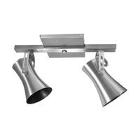 Spot para 2 Lâmpadas E27 Escovado Trilho - Jabu Elétrica, Hidráulica e Iluminação