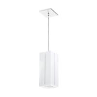 Pendente Quadrado Acrílico com Friso 12x12x30cm Pa... - Jabu Elétrica, Hidráulica e Iluminação