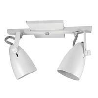 Spot para 2 Lâmpadas E27 Branco Trilho - Jabu Elétrica, Hidráulica e Iluminação