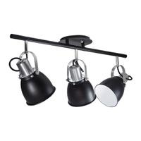 Spot para 3 Lâmpadas E27 Preto Trilho - Jabu Elétrica, Hidráulica e Iluminação