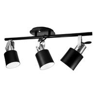 Spot para 3 Lâmpadas E27 Preto/Escovado Trilho - Jabu Elétrica, Hidráulica e Iluminação