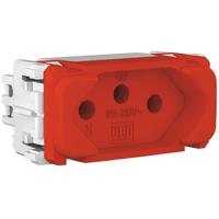 Tomada 2p + t 10a Vermelho Composé - Weg - Jabu Elétrica, Hidráulica e Iluminação