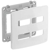Placa 4x4 Para 4 Módulos Separados Com Suporte Com... - Jabu Elétrica, Hidráulica e Iluminação